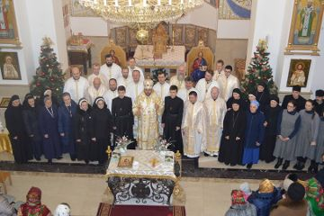 Byzantinische Liturgie des Institutes des Fleischgewordenen Wortes in der Ukraine.