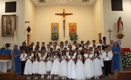 Erstkommunion der IVE-Pfarrei in WAUCHULA, FLORIDA