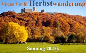 Herbstwanderung Voces Verbi